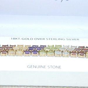 Gold Sterling Gemstone Bracelet